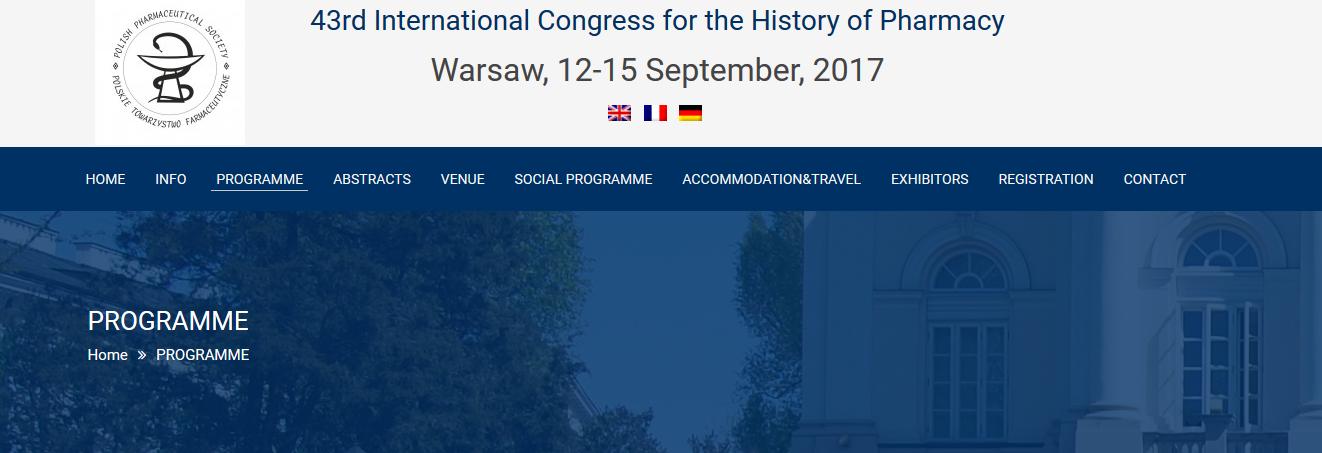 43. Międzynarodowy Kongres Historii Farmacji